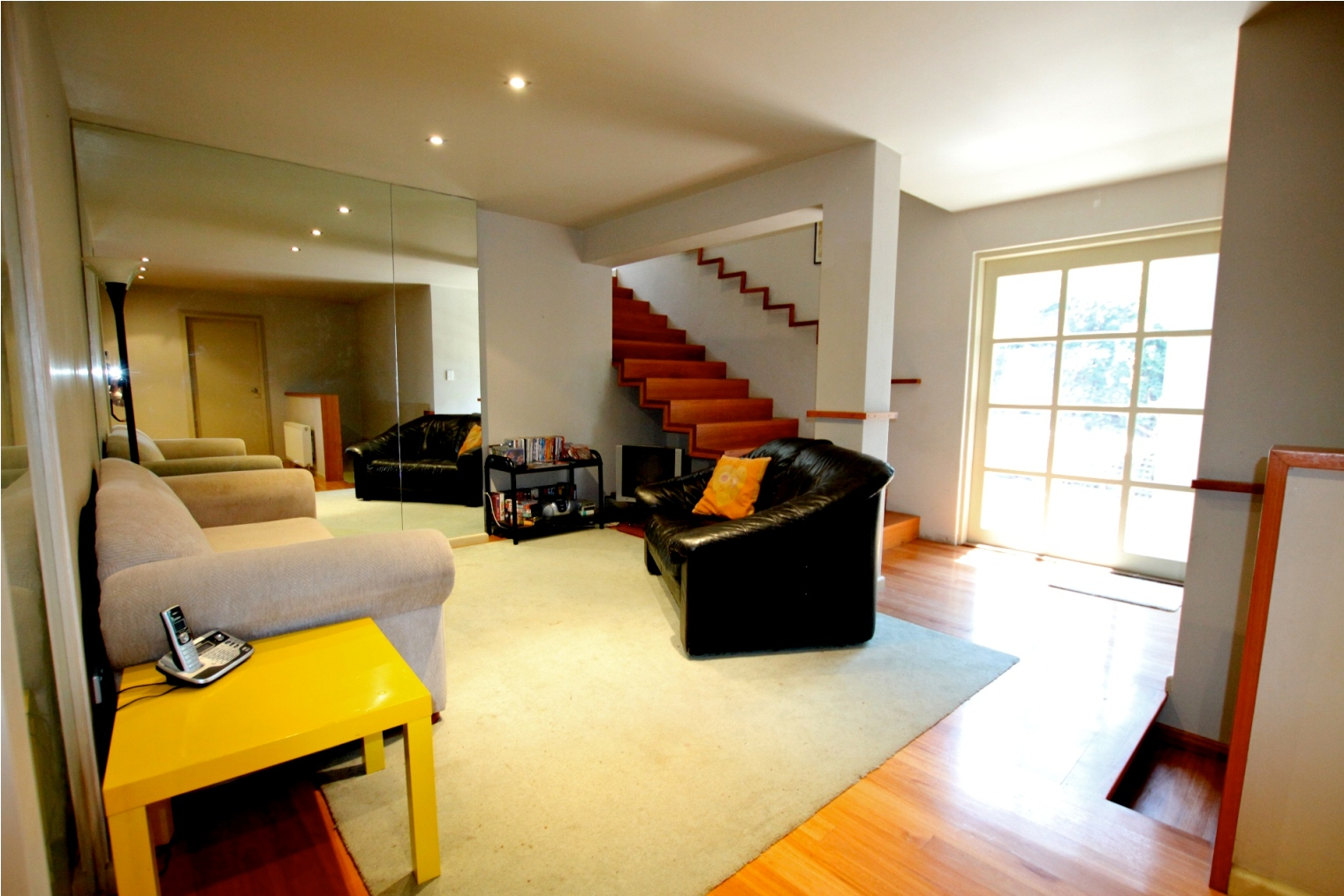 New family room & staircase